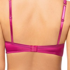 Lara Satin Padded Wire-Free Bra